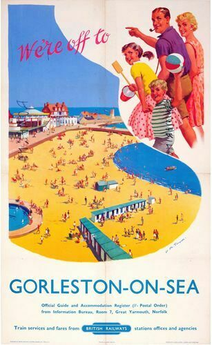 Vintage Style Railway Poster Bexhill on Sea East Sussex A4//A3//A2 Print