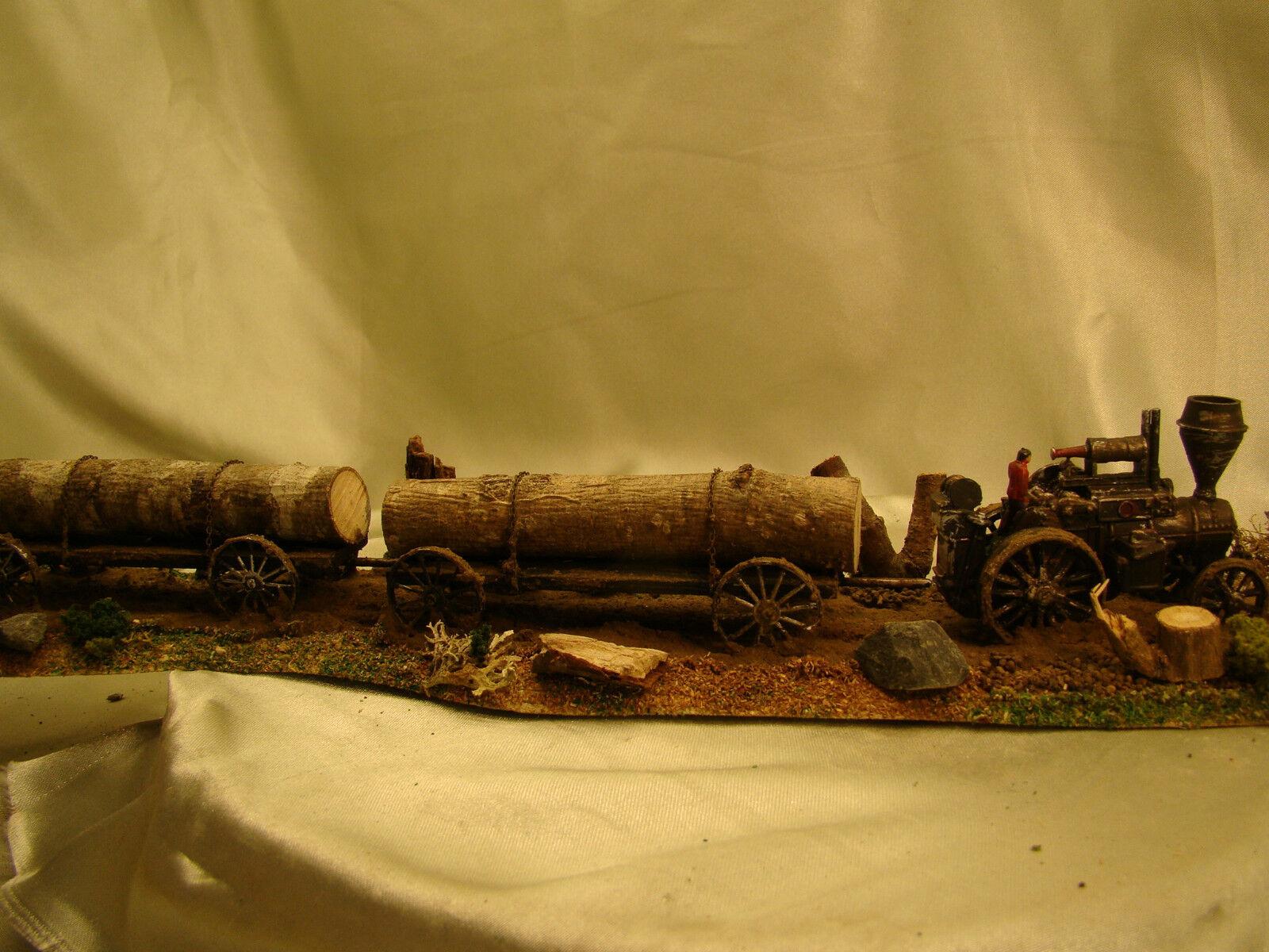 Tractor de motor de vapor de imágenes históricos-Custom erosionado, Pintados HO-Lote 6