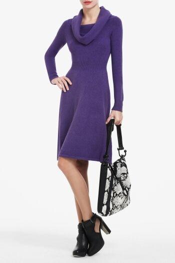 NWT BCBG DRESS SWEATER LONG SLEEVES NELLIE M L 8 10 12 PURPLE