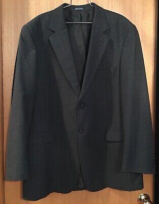 Stafford Washable Wardrobe Men's Dark Gray Striped Blazer Size 44r Men's Clothing