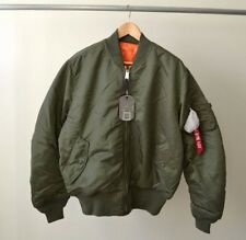 Made in USA NWT Alpha Industries MA-1 Bomber Jacket Sage Green M Kanye West