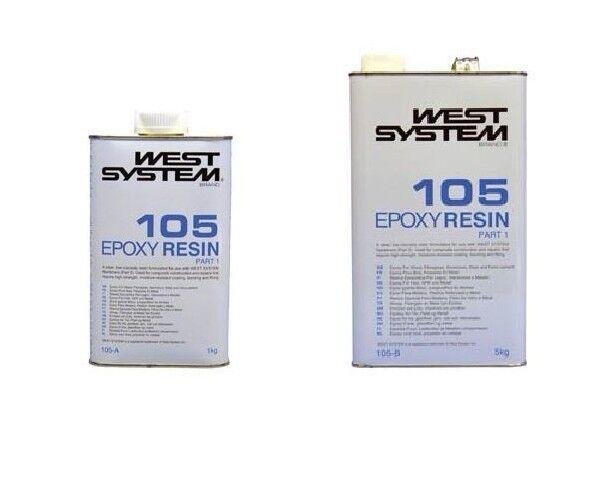 West System epoxy Resin 105A 1kg & 5kg