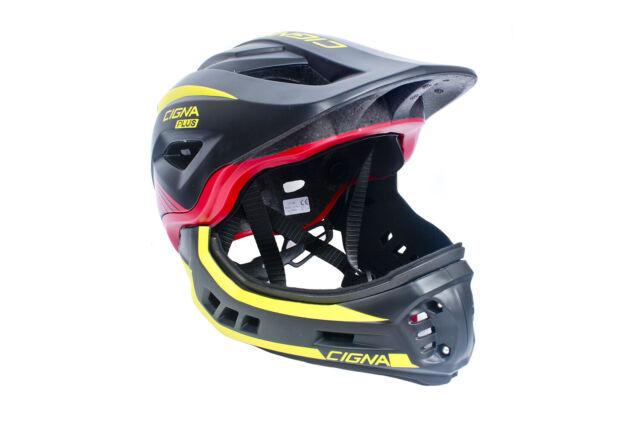 CIGNA TT32 Kids Cycling Bike Helmet 2 in 1 Full-Face Detachable Blue M-size