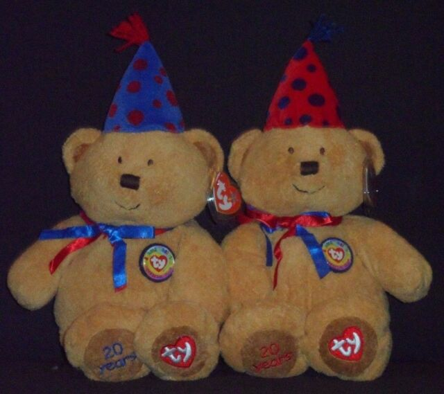 TY FUN & LAUGHTER BEANIE BUDDY SET - TY 20TH ANNIVERSARY - MINT with MINT TAGS