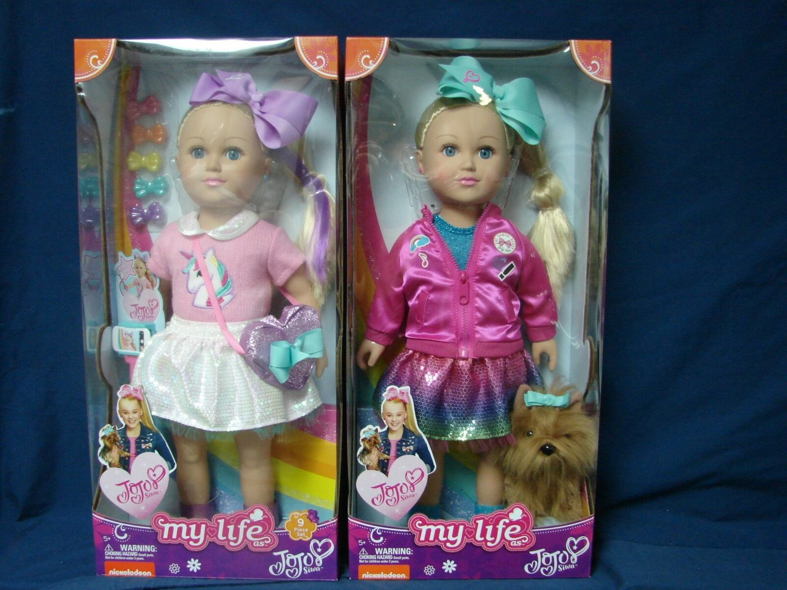 Lot 2 New My Life As Jojo Siwa 18  Doll  Walmart Exclusive 2017 2018 Bowbow Dog