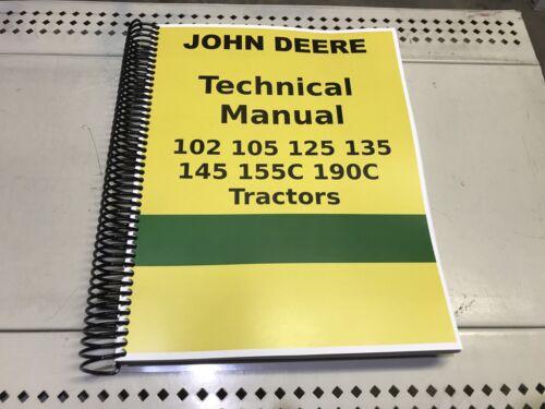 190C John Deere Lawn and Garden Tractor Technical Service Shop Repair Manual