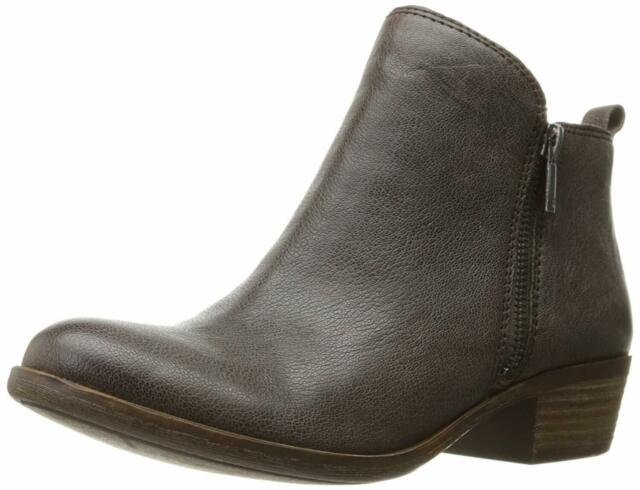 Lucky Brand Womens Basel Leather Almond Toe Ankle Fashion Boots, Java, Size 7.0