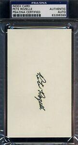 Pete Rozelle Signed Psa/dna 3x5 Index Card Certed Autograph
