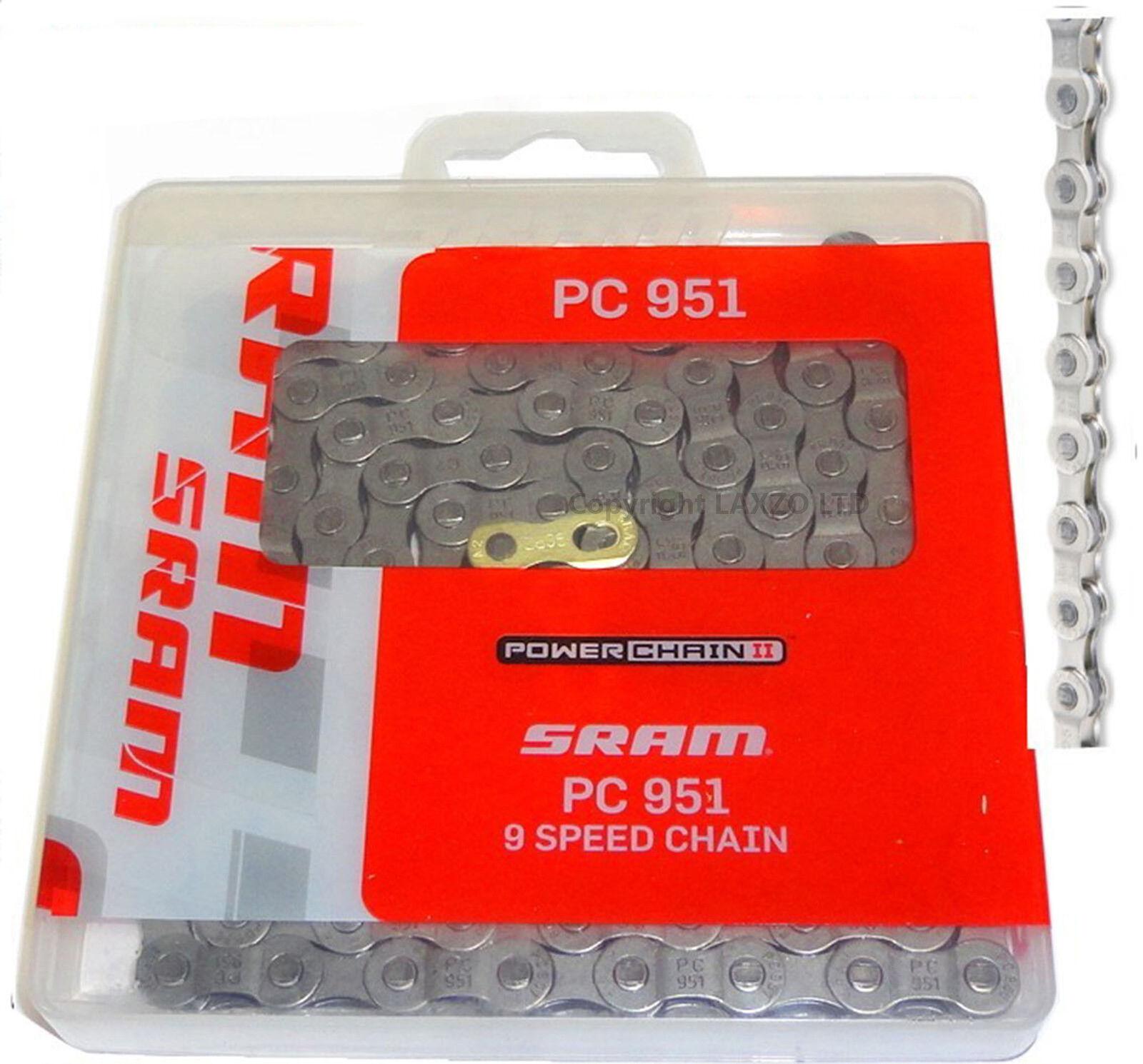 SRAM PC951 PowerChain II 9 Vitesse Vitesse Vitesse MTB Chaîne Vélo Cycle Or Mixte f4afee