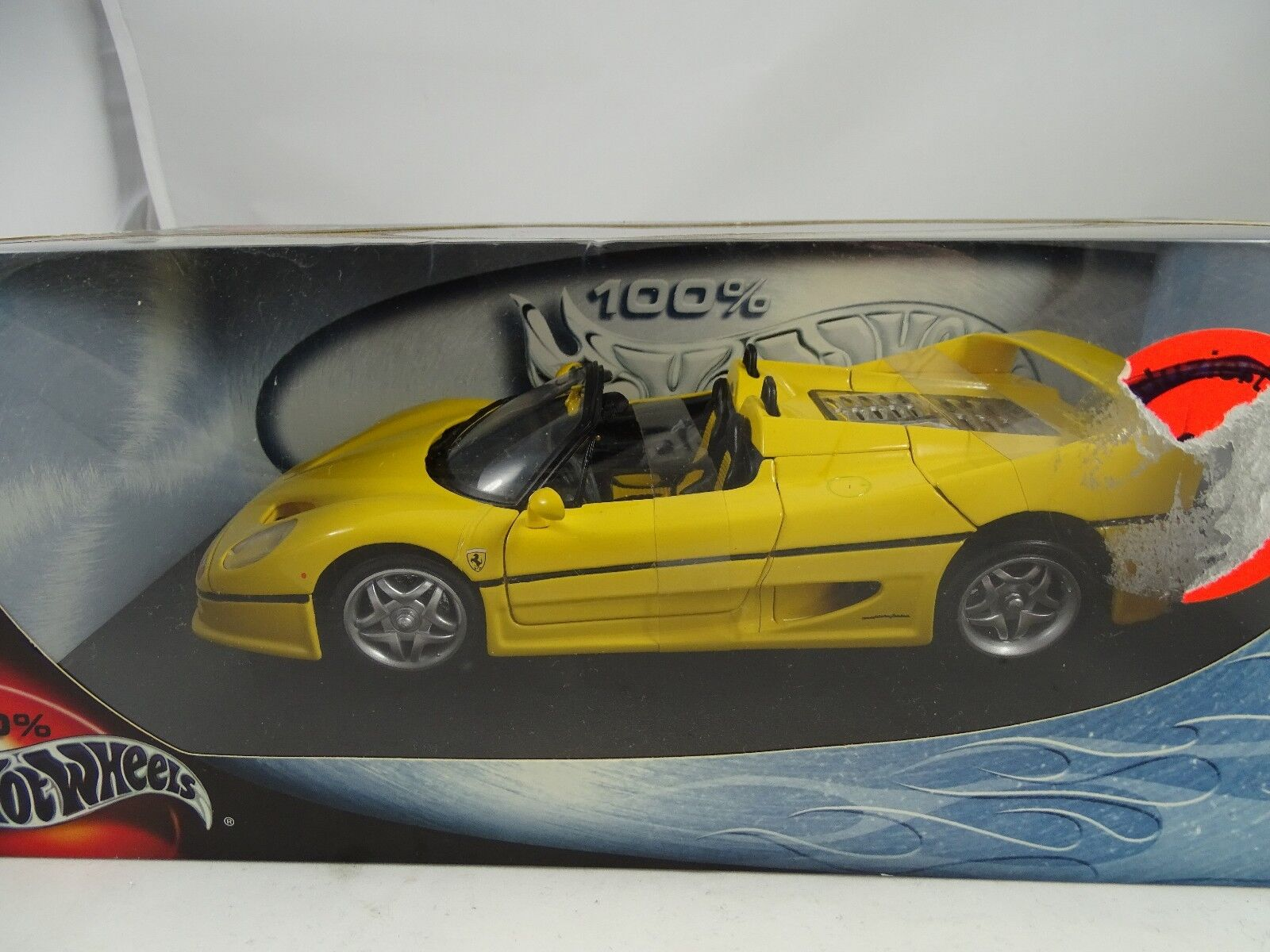 1:18 Hot Wheels Ferrari F50 Ragno Giallo - Rarità §
