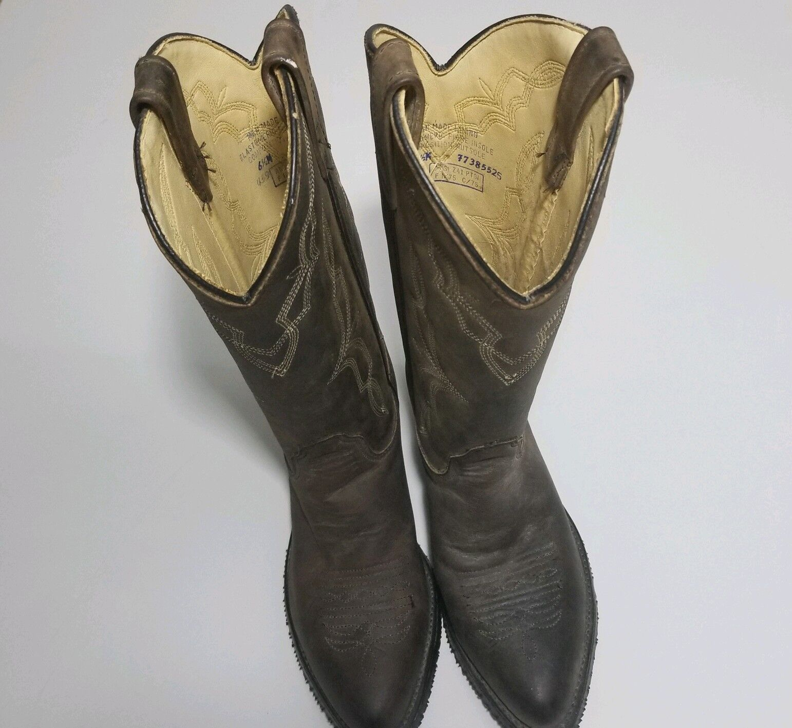 Iron Age Western Cowboy Brown Boots Mens 6.5