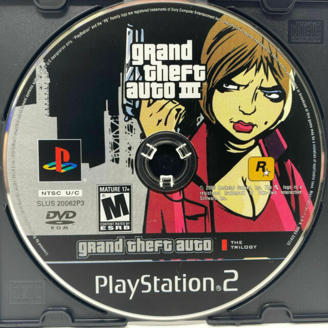 """Grand Theft Auto III from """"The Trilogy"""" (PlayStation 2 PS2) GAME DISC ONLY testd"""