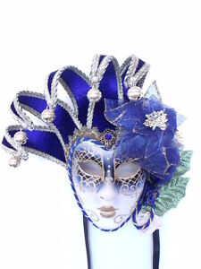 BLUE-AUTHENTIC-VENETIAN-JOLLY-CARNIVAL-MASQUERADE-MASK