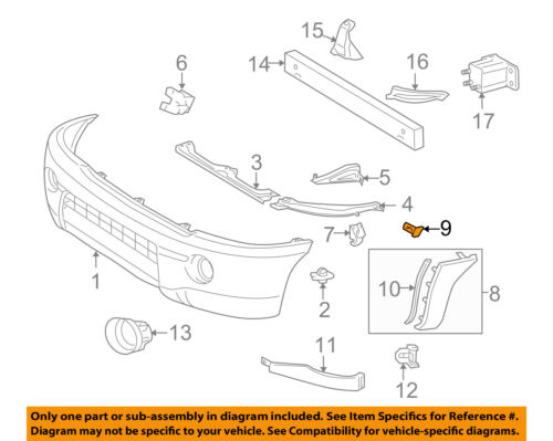 TOYOTA OEM 05-18 Tacoma FRONT BUMPER-Cover Extension Retainer 7539204010