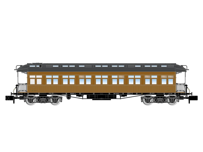 Arnold hn4228-vagoni viaggiatori costa 2.kl. RENFE-Spur N-NUOVO