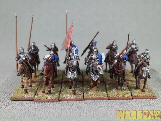 28mm Wds Pintado WR 40 montado hombres en brazos 1450-1500 figuras montado (12) r55