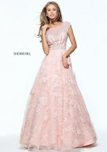a4031ebb3f3 Image is loading Sherri-Hill-51010-Blush-Pink-Pageant-Couture-Ball-