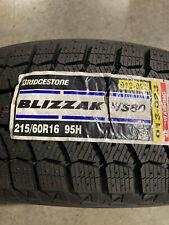 4 New 215 60 16 Bridgestone Blizzak Ws80 Snow Tires