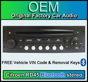 citroen c4 picasso bluetooth autoradio citroen rd45 l5fa04 radio bordeaux code ebay. Black Bedroom Furniture Sets. Home Design Ideas