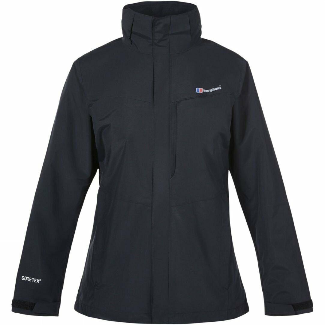 Berghaus Woherren Hillwalker Long Shell Waterproof GTX Jacket schwarz Large UK 14