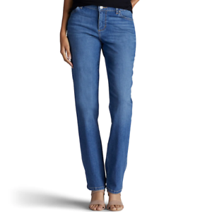 Women-039-s-Lee-Relaxed-Straight-Leg-Jeans-Meridian-Blue-Size-6