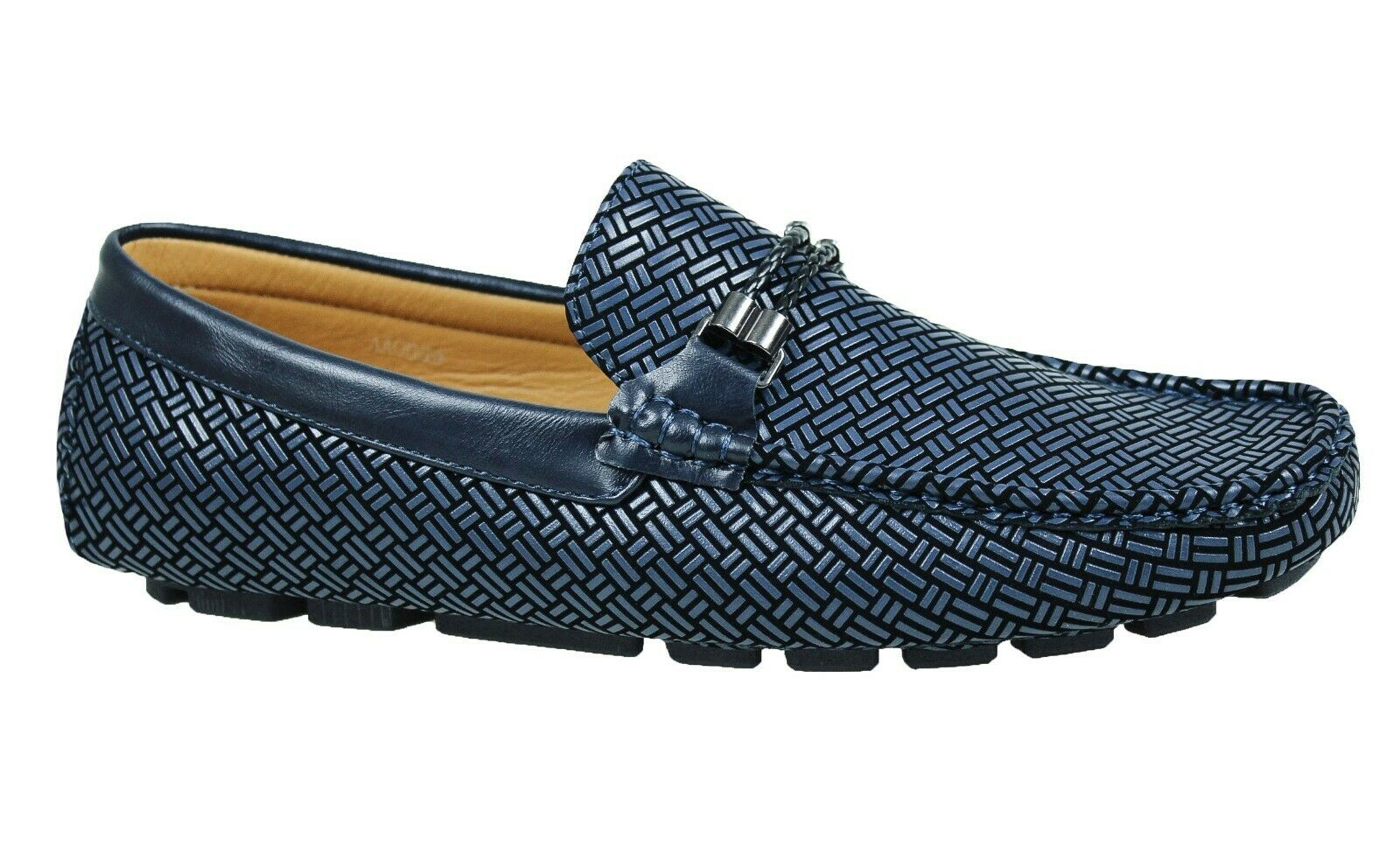 LOAFERS MAN DIAMOND CASUAL ELEGANT blueE SHOES FAUX LEATHER SPRING SUMMER