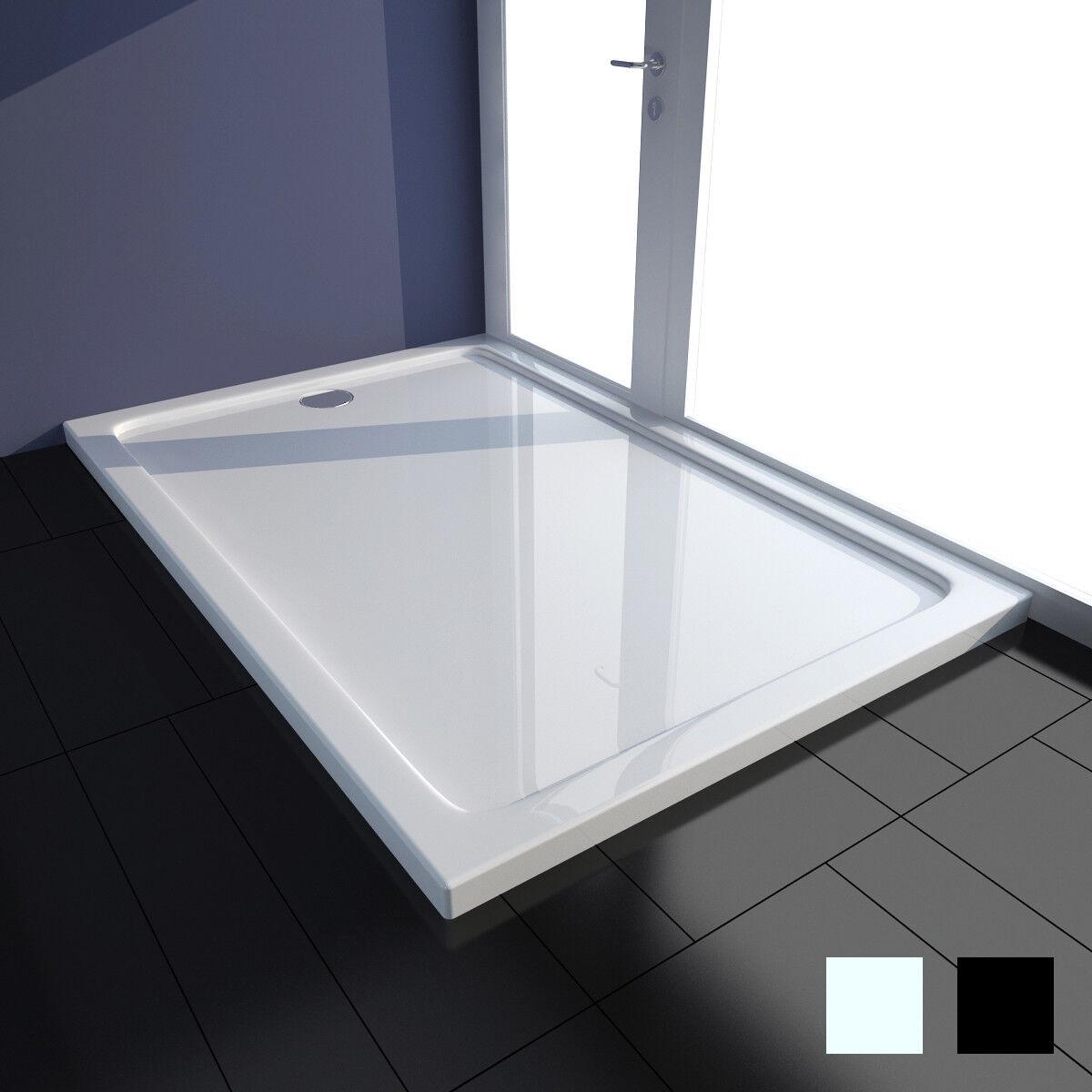 Receveur de douche Blanc   Noir Receveur de douche à poser avec taille au choix