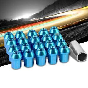Light Blue Accent//Black Body M12x1.50 Close End Tuner 16x Lug Nuts+4 Lock Nuts