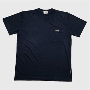 Mens-Vintage-Lacoste-Sport-T-Shirt-Medium-3-Navy-Short-Sleeve-Pocket