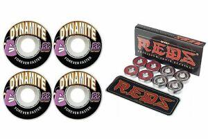 Dynamite-Forever-50mm-Skateboard-Wheels-Bones-Reds-Bearings