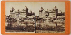 Italia-Torino-Castello-Del-Valentino-Foto-Grogi-Stereo-Vintage-Albumina-c1875