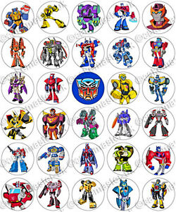 30 x transformers cartoon party edible rice wafer paper cupcake