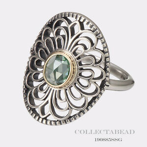 Authentic Pandora Silver Amp 14k Gold Vintage Allure Ring