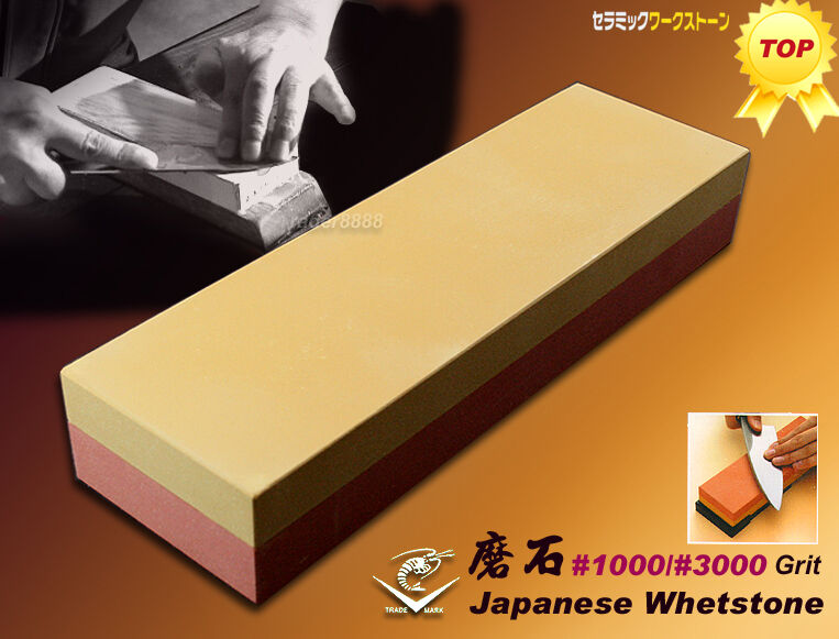 Made In JAPAN NANIWA Combination Whetstone  1000 3000 Grit Sharpening