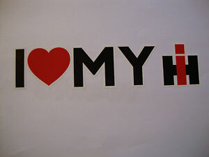 2 X I LOVE MY INTERNATIONAL HARVESTER STICKERS TRACTOR 4X4  FARMERS VEHICLES