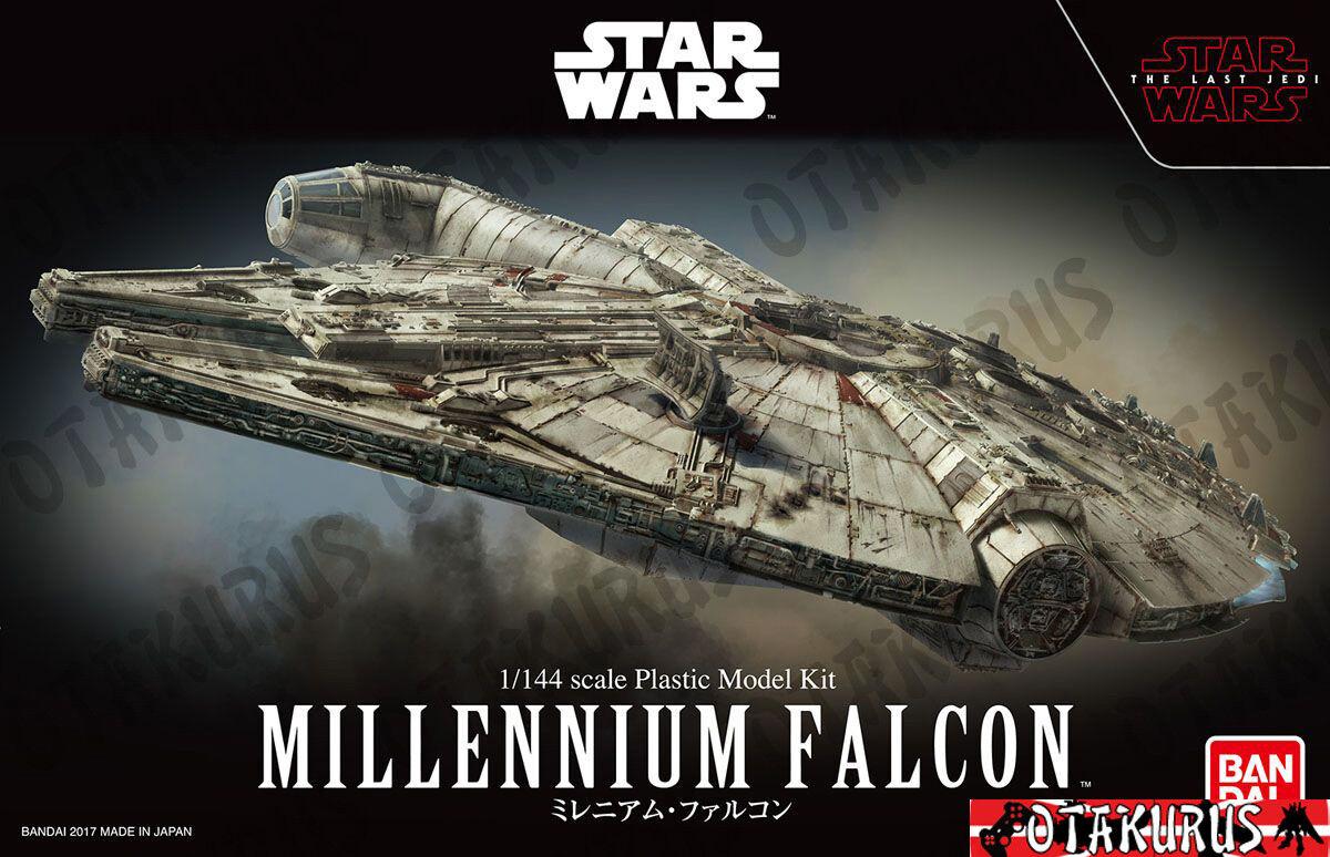 Millennium Falcon Star Wars The Last Jedi Version Scale 1 144 Model Bandai Japan