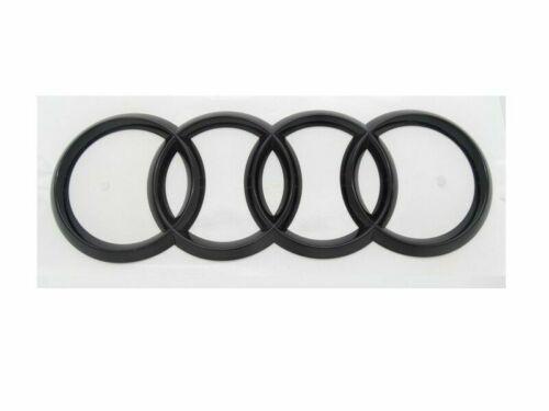 Original Audi A5 RS5 F5 Ringe Emblem Schriftzug Logo Heckklappe schwarz glänzend
