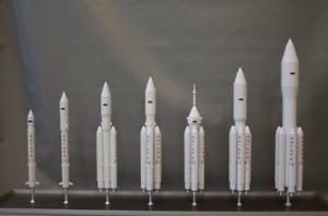 "Spacecraft Handmade Russian set space launch vehicle ""Angara Family"""