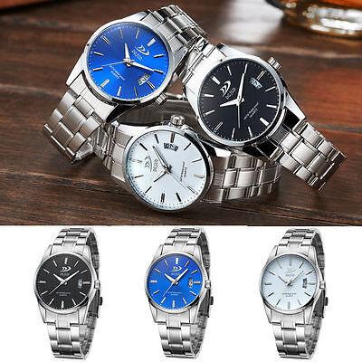 Luxury Men's Date Fashion Stainless Steel Quartz Analog Army Sport Wrist Watch