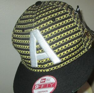 New Era Akoo Hip Hop Gold Chain Print SnapBack Fitted 9Fifty Hat Cap ... 83f23d9b91cc