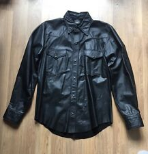 Rob New York Leather Man Long Sleeve Leather Shirt