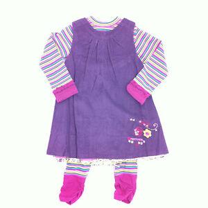 BABY-GIRL-3PC-PURPLE-PRETTY-PETA-CORDUROY-DRESS-SET-100-COTTON