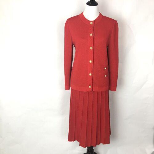 Button 8 Set Rok Brewster Dames Rode Pearl Suit Blazer Frances Gebreide Maat x0wHS1qZC