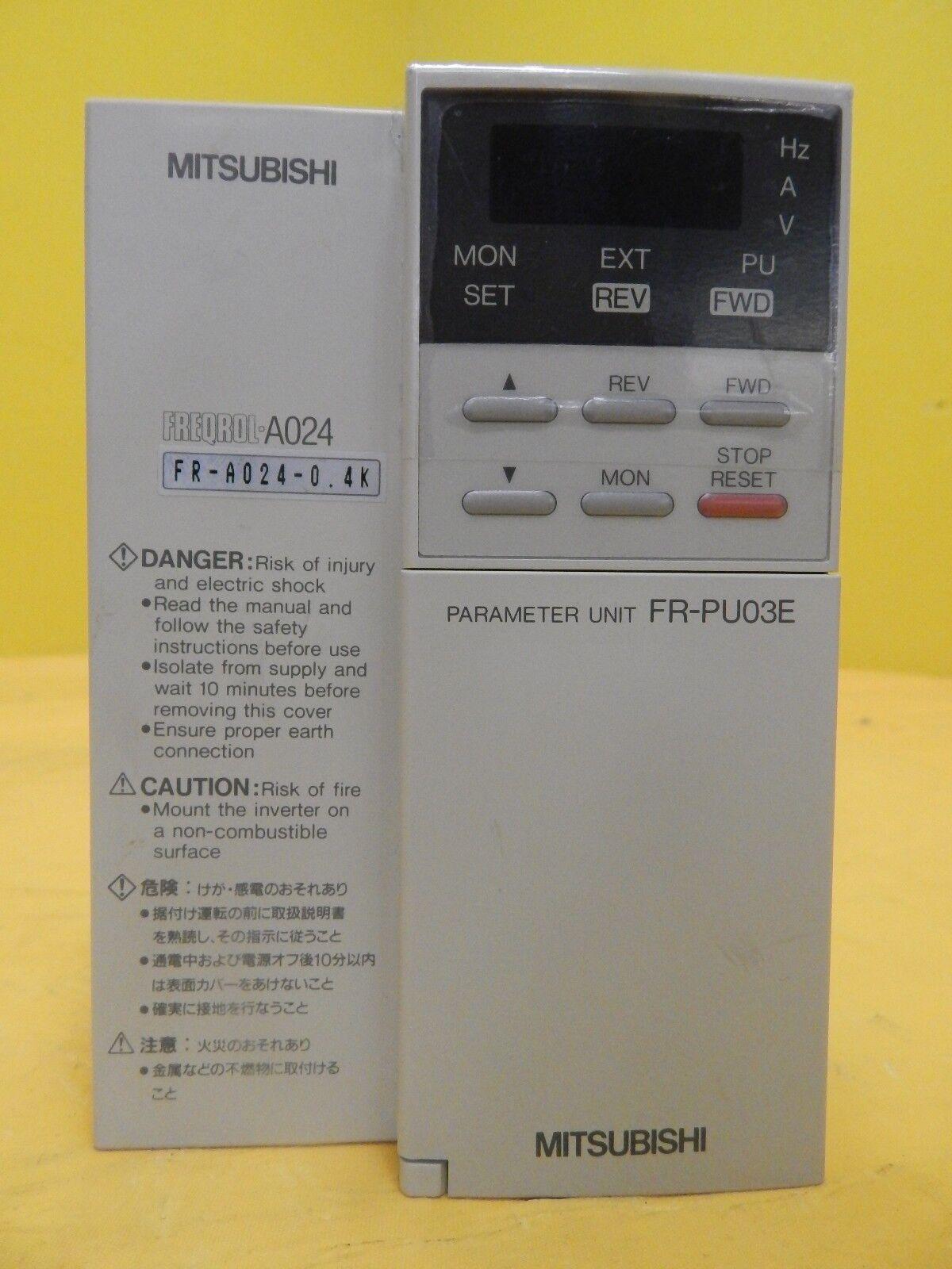 Mitsubishi FR-A024-0.4K Inverter FREQROL-A024 Parameter Unit FR-PU03E Used