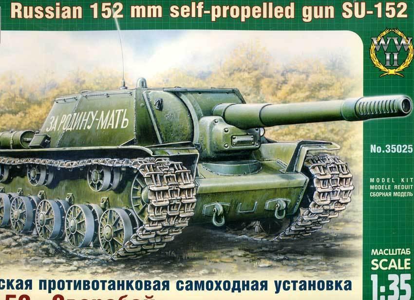 ARCHE Russe 152mm auto prop gun SU-152 Citerne modèle-kit 1 35 Réservoir Russe