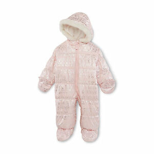 Carters Baby Girl Warm Clothes 3 6 9 Months Hooded Bunting Pram Suit