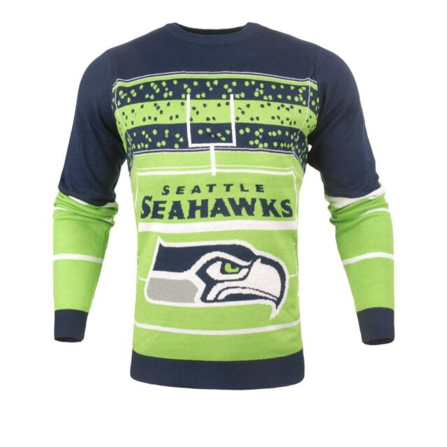 huge discount 04fbf 3a9a5 Seattle Seahawks NFL Stadium LED Light-Up Ugly Sweater Forever Collectibles  L