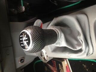 FITS VW BEETLE MID GREY REAL LEATHER SHIFT BOOT NEW 1998-2009
