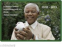 Nelson Mandela Peace Dove Refrigerator / Tool Box / File Cabinet Magnet