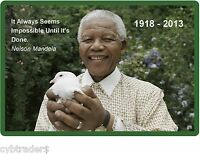 Nelson Mandela Peace Dove Refrigerator / Tool Box / File Cabinet Magnet
